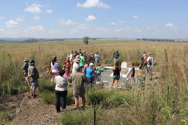 Tour at Churchills capture site Colenso